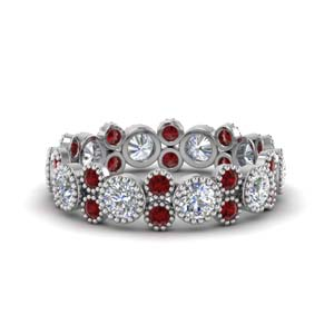2 Ct. Vintage Ruby Eternity Ring