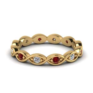 Ruby Infinity Eternity Band
