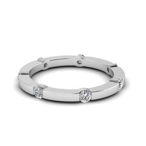0.35 Ct. Half Bezel Eternity Band