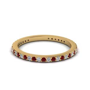 Stackable Eternity Band With Ruby