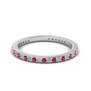 Thin Diamond Stackable Eternity Band