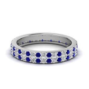 0.75 Ct. Diamond 2 Row Eternity Band