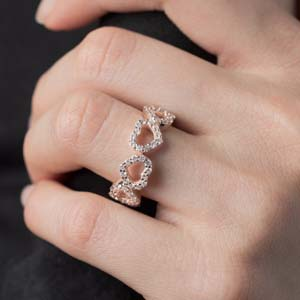 1 Carat Heart Design Diamond Band