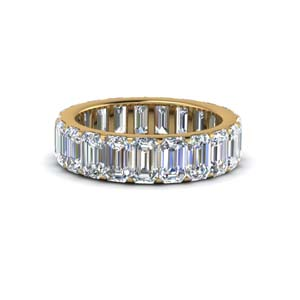 4.25 Ct. Emerald Cut Diamond Eternity Band