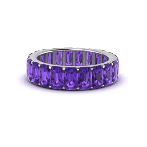 Eternity Band With Purple Amethyst