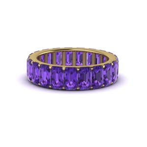 Purple Amethyst Eternity Band