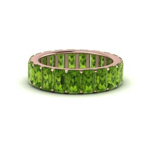 Rose Gold Peridot Eternity Band