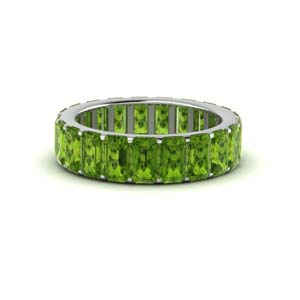 Peridot Eternity Band For Women