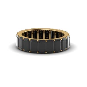 Black Onyx Eternity Wedding Band