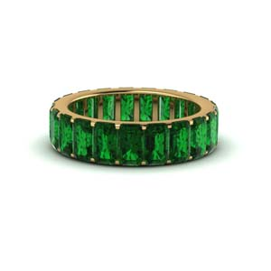 Emerald Eternity Band Gold