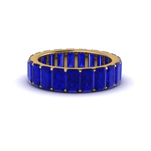 Sapphire Eternity Band In 18K Gold