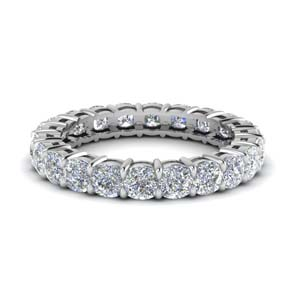 3.50 ct. cushion cut eternity diamond band in FDEWB8322B NL WG