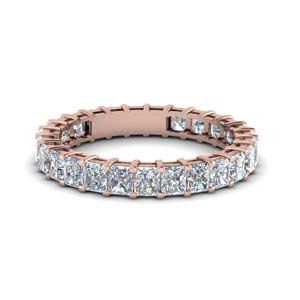 Radiant Cut Diamond Band