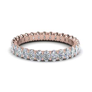 Rose Gold Oval Diamond Eternity Ring