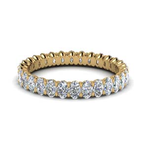 Oval Eternity Diamond Band 3 Ct.