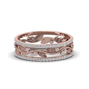 Branch Design Diamond Wedding Band
