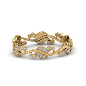 0.50 Ct. Art Nouveau Diamond Band