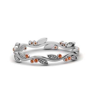 Tree Branch Orange Sapphire Band