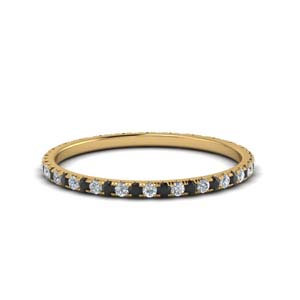 Black Diamond Women Wedding Band