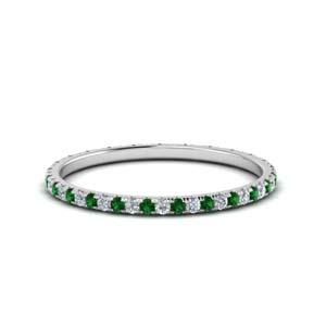 0.25 Ct. Thin Emerald Band