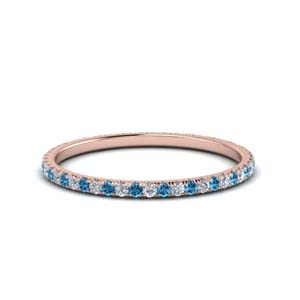 Rose Gold 0.25 Ctw. Topaz Band