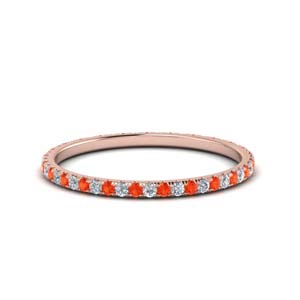 Eternity Orange Topaz Band