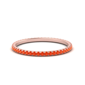 Orange Topaz Stacking Band
