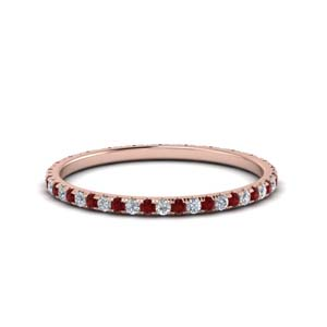Round Ruby Eternity Band