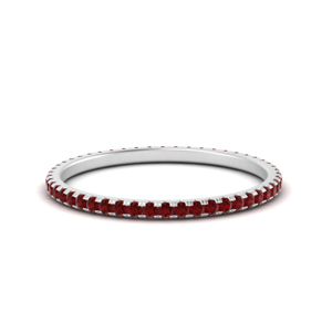 Stackable Ruby Wedding Band