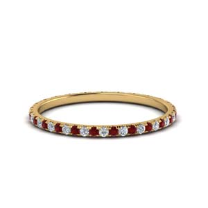 0.25 Ct. Eternity Ruby Band