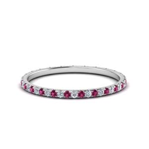 Petite Pink Sapphire Eternity Band