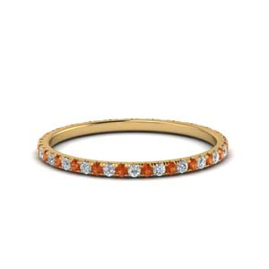 Gold Orange Sapphire 0.25 Ct. Band