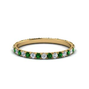 Gold 0.50 Ct. Emerald Band