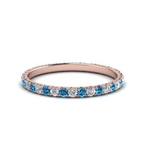 Round Eternity Band With Topaz