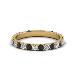 Gold Black Diamond Band