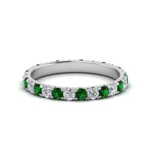 Round Emerald Women Band