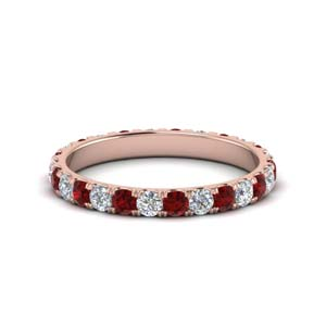 Eternity Rose Gold Ruby Band