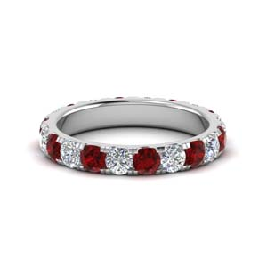 Ruby Women Wedding Band 2 Ct.