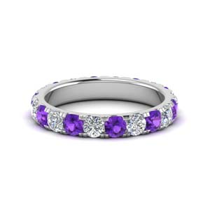 2 Ct. Purple Topaz Women Eternity Band