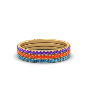Mixed Colors Stackable Rings