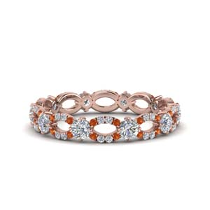 Infinity Orange Sapphire Eternity Ring