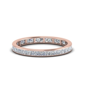 One Carat Princess Cut Eternity Band