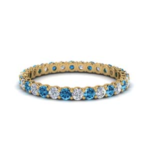 14K Gold Round Eternity Band