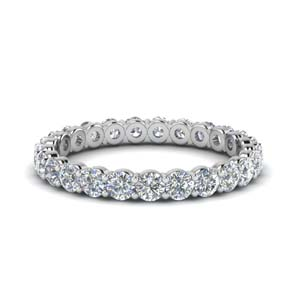 1.50 Carat Round Diamond Eternity Ring