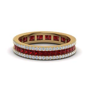 Ruby Vintage Wedding Ring