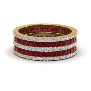 Multi Stack Ruby Anniversary Band