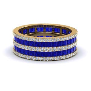 Blue Sapphire Multi Stack Ring