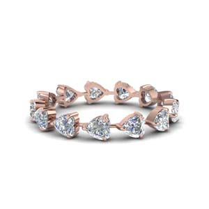 Rose Gold Heart Shaped Anniversary Band