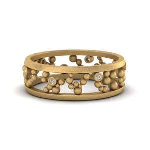 Bezel Set Bead Eternity Band