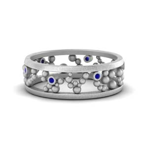 Beaded Wedding Ring Band